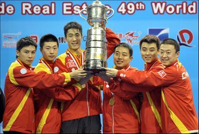世界卓球、中国が男子団体で優勝...